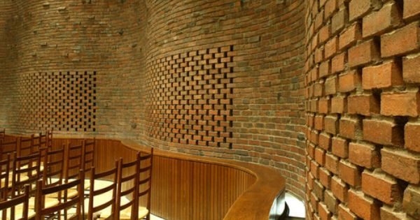 Eero Saarinen Chapel At Mit Cambridge 1955 Via Brique Terre Cuite Et Terre