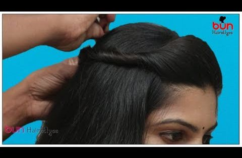 Front Puff With Bun Hairstyle For Saree Simple Puff Hairstyle Step By Step Easy Bun Hairstyle Youtube Saree Hairstyles Bun Hairstyles Hair Puff
