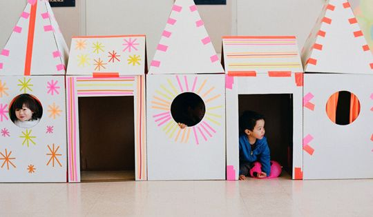 10 Fun Cardboard Play Structures