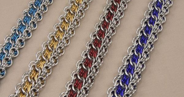 Basket Weave Chainmaille Tutorial : Aragon weave by amy leggett the metalmark jewelry from