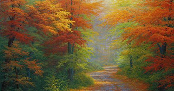 Bob Ross Spring Paintings Charles White Autumn