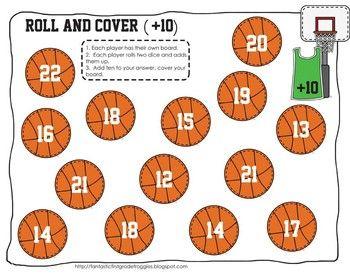 Basketball Math Center Fun Freebie Basketball Math Math Centers March Math