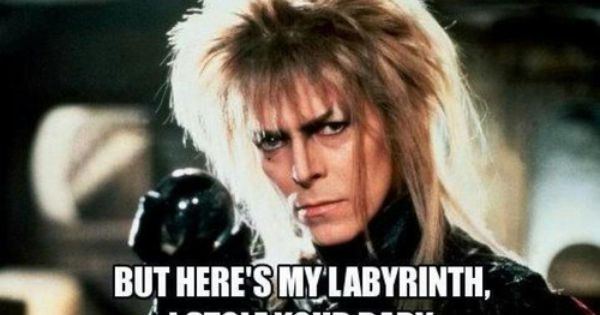 David Bowie playing as Jareth the Goblin King from The Labyrinth movie.