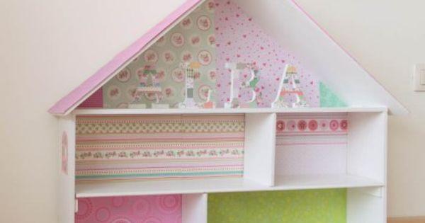 Casa de mu ecas hecha con una caja de madera mis - Manualidades con caja de madera ...
