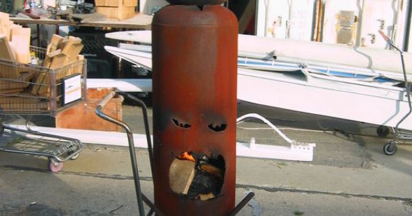 """""""Mr. Fire Face"""" the Outdoor Fireplace Made From Old ..."""