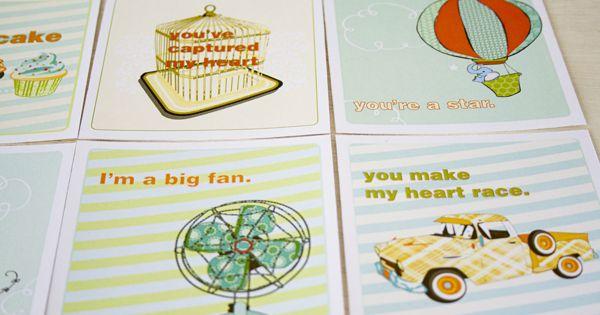 Printable Valentine cards!