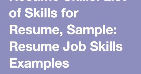 Pinterest u2022 The worldu0027s catalog of ideas - common resume skills
