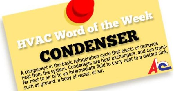 Hvac Word Of The Week Condenser A Component In The Basic