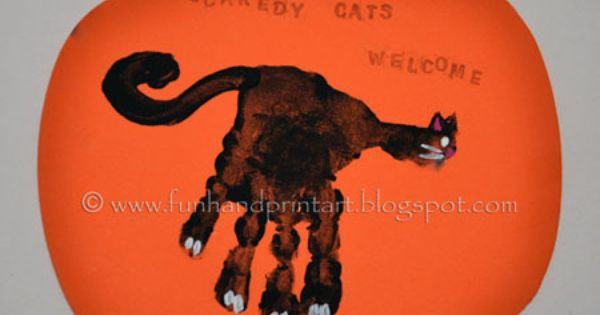Black Cat Handprint