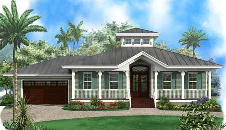 Plan 66333we Florida Beach House With Cupola Beach Style House Plans Florida House Plans Florida Beach House