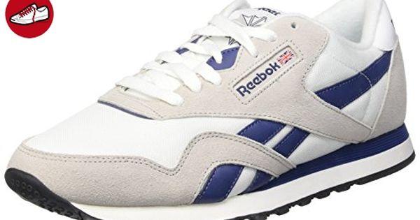 size 40 18c2f 2d935 ... Reebok Classic Nylon, Herren Sneakers , Multicolor - Weiß   Grau   Blau    Schwarz GL 6000 ...