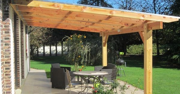 pergola murale bois 6 06 x 4 00 m couverture polycarbonate 16mm ebay terrasse pinterest. Black Bedroom Furniture Sets. Home Design Ideas