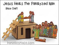 Jesus Heals The Paralyzed Man Bible Craft From Www Daniellesplace Com