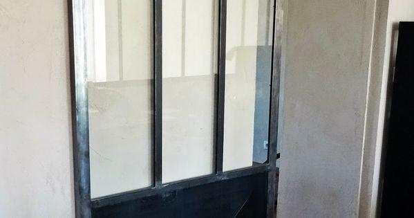 S paration de deux pi ces chambre et bureau fen tre for Porte fenetre style verriere