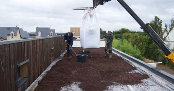 Le Substrat En Big Bag Pour Toiture Vegetale Toiture Vegetale Toiture Toiture Vegetalisee