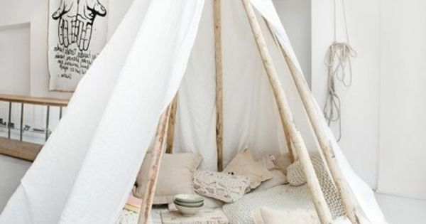tolles zelt selber bauen basteln pinterest tipi room and tribal room. Black Bedroom Furniture Sets. Home Design Ideas