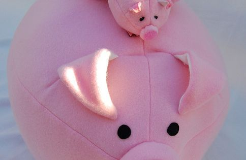 Pattern for adorable pig family - from Ikat Bag plushie stuffed animal