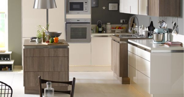 meuble de cuisine beige delinia composition type perle cuisine pinterest cuisine beige. Black Bedroom Furniture Sets. Home Design Ideas