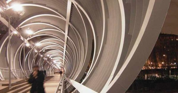 Night View Of Modern Footbridge Wrapped In Futuristic Spiral Structure |  Design Studio 4, Project 1: A Living Bridge | Pinterest | Night, Modern And  Spirals