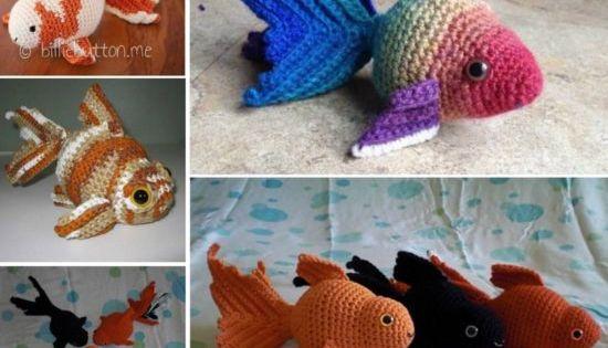Fancy Goldfish Amigurumi By Kate Wood : Cute Free Crochet Patterns Pinterest Top Pins The WHOot ...