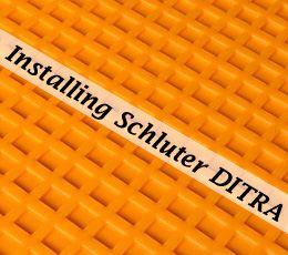 How To Install Schluter Ditra Tile Underlayment Flooring Tutorials Flooring Laying Tile Floor