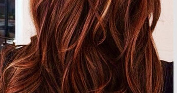 Red Hair With Caramel Highlights Http Www Hairstylo Com