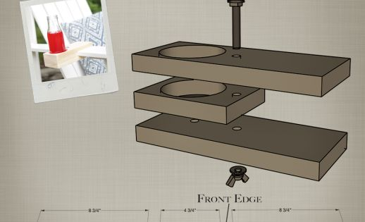 Build A Diy Chair Drink Holder Building Plans By