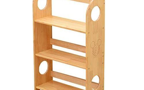 Childrens Bookcase 3 Tiers Kids Bookcase Wooden Book Storage Rack