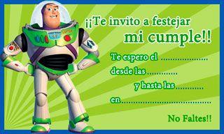Invitaciones Para Imprimir De Buzz Lightyear Toy Story