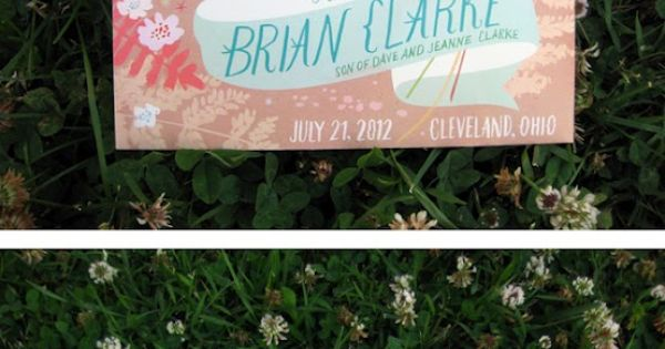 Pencil Pop: Wedding Invitation: Ingrid and Brian