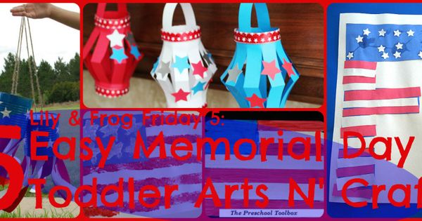 memorial day toddler art