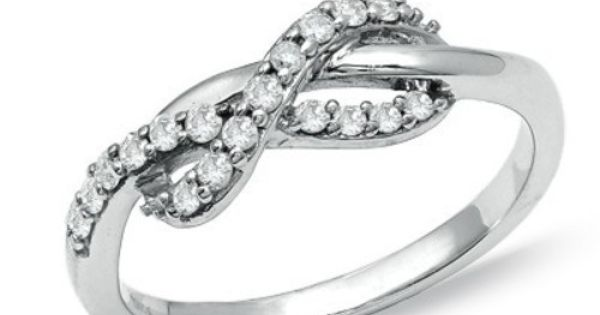 1/4 CT. T.W. Diamond Infinity Ring in 10K White Gold - Jewelry