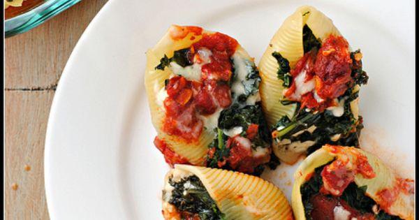 Stuffed shells, Shells and Kale on Pinterest