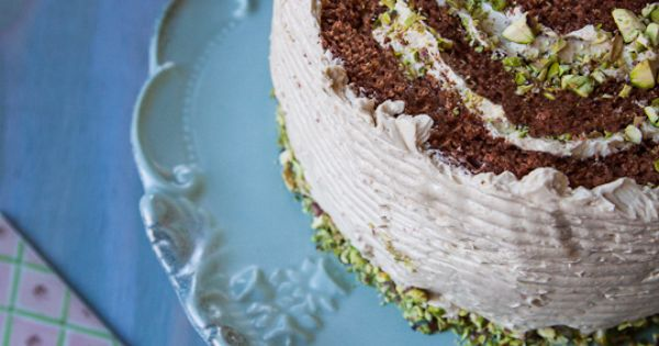 Chocolate Rolled Cake with Brown Sugar Buttercream & Crushed ...