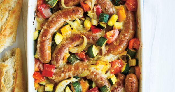Casserole de saucisses la ratatouille recettes ricardo - Cuisiner la ratatouille ...