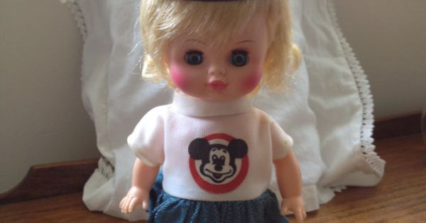 Dollhouse Miniature 1:12 Mickey Mouse Club Mouseketeers Doll Box dollhouse girl