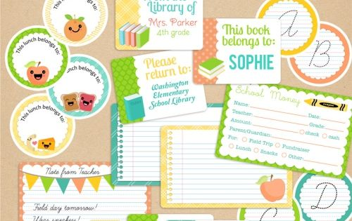 Free Back To School Ideas To Make Their First Day Special: Printables