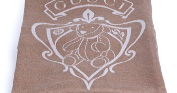 Gucci Baby Blanket With Bunny Crest Designer Baby