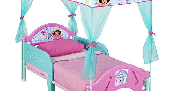 Dora The Explorer Canopy Toddler Bed