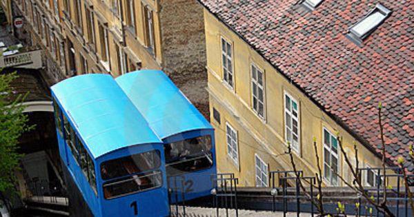 Zagreb Funicular By Graksi Via Dreamstime Zagreb Croatia Zagreb Croatia