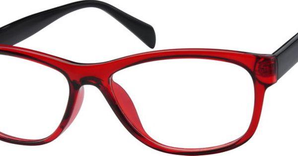 Red Women s Rectangle Eyeglasses #2801 Zenni Optical ...