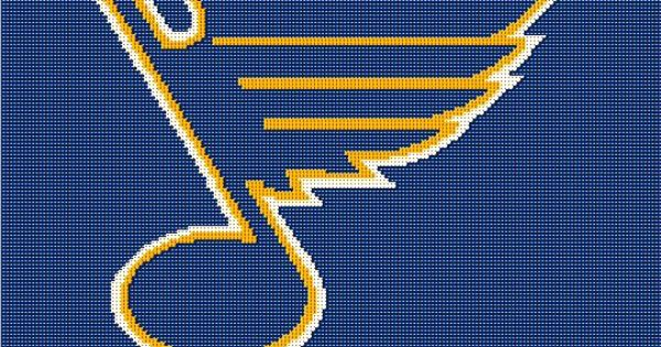 Crochet Hockey Afghan Pattern : St Louis Blues NHL Hockey Crochet Afghan Pattern St ...