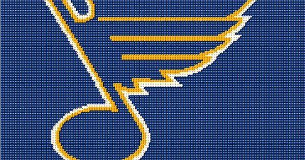 Crochet Hockey Afghan Pattern : St Louis Blues NHL Hockey Crochet Afghan Pattern St ...