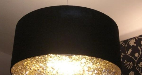 Glitter inside of a lamp shade. This definetly amazing Dining Room /