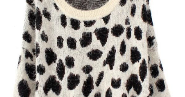 Loose leopard pullover