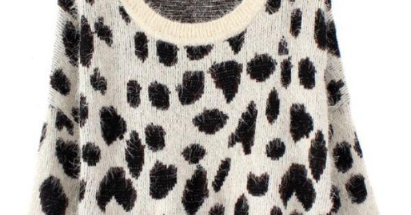 Loose leopard pullover