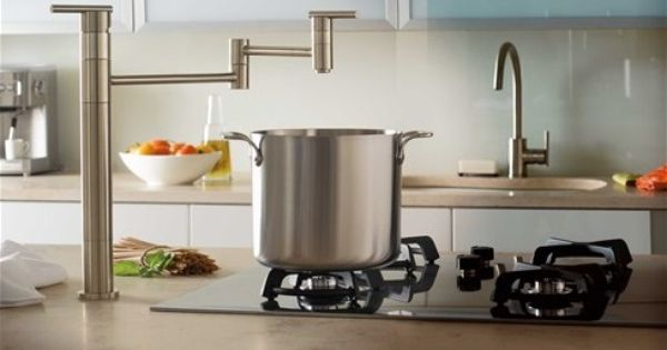 Danze D206558ss Stainless Steel Deck Mount Pot Filler Pot Filler Kitchen And Bath Design Island With Stove
