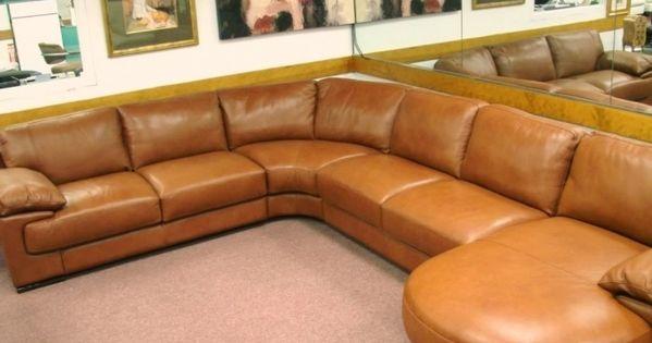 Natuzzi Leather Sectional Sofa Decorating Idea