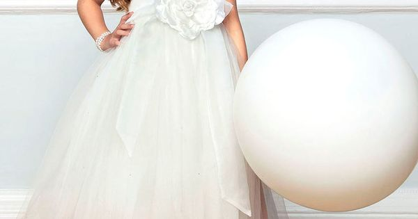 Lydia Ivory Strappy Bridesmaid Dress With Full Skirt