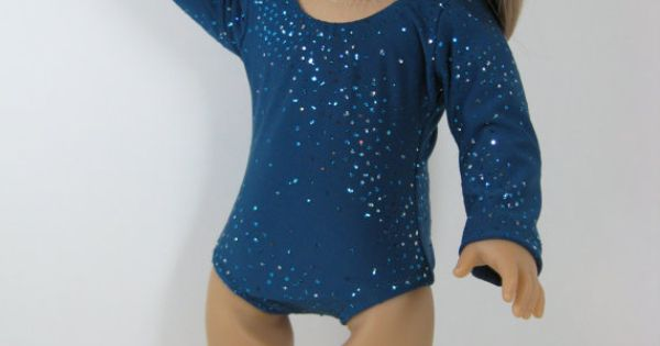 18 Inch Doll Clothes American Girl Sparkly Teal Gymnastics